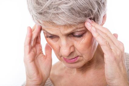 ältere Frau mit Depression